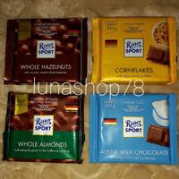 Paket coklat Jerman Ritter Sport mix 4 rasa 4x100g