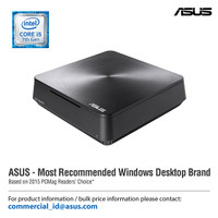 ASUS Vivo Mini PC VM65 7200 WL Intel Core i5-7200U, UHD 4K, Dual Bay