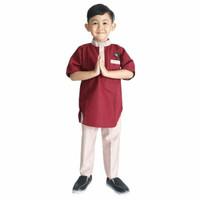 stelan baju koko muslim anak laki laki bahan toyobo usia 5 -10 tahun