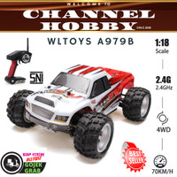 WLtoys A979-B RC Car Truck OffRoad 4WD 70Km/Jam Mainan Mobile Remote