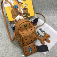 MCM Stark Bebe Boo Mini Backpack tas ransel ORIGINAL ORI FO AUTHENTIC