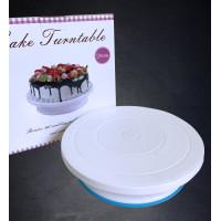 Cake Turntable Meja Dekorasi Kue Putar Non Slip Round Turn Table