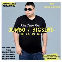 Kaos Jumbo Bigsize 2xl 3xl 4xl 5xl - Hitam, 2XL