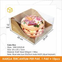 Cake Box Mika Dus Packaging Kue Lapis Kemasan Window Bolu | WB122525