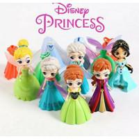 Mainan Figure Princes Jasmin Ganti Baju/Toper Kue Cake Set Isi 6