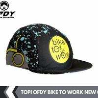 topi sepeda gowes cycling cap dryfit cool breathable BIKE TO WORK OFDY