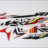 Striping sticker lis body yamaha mio j teen 2013 merah