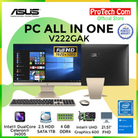 ASUS PC ALL IN ONE V222GAK WA141T - DUALCORE J4005 4GB 1TB 21,5 W10