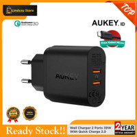 AUKEY PA-T16 Qualcomm DUAL Quick Charger 3.0 Tech 34.5W 9V 12V