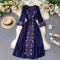 Bohemian Chiffon Dress Import BS016 Baju Wanita Korea Pesta Sifon KPOP