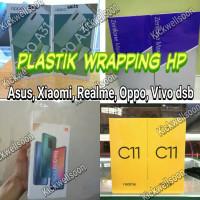 plastik wrapping Hp xiaomi Asus Realme Oppo Vivo, Plastik Dus Hp