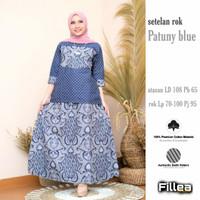 fillea Patuny setelan batik solo blouse+rok baju kerja wanita murah
