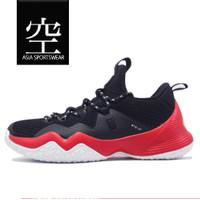 Sepatu Basket PEAK Streetball Master Low Cutting Shoes Black Red - 45