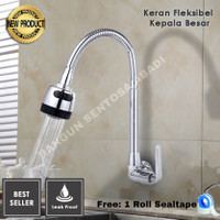 Kran Air/Fleksibel Kepala Besar/ Keran Dapur/Kran Bak Cuci Piring