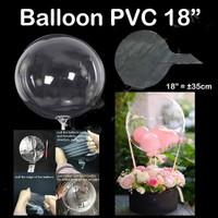 Balon bening Pvc / balon plastik bening 18inch