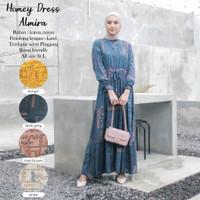 Baju Gamis Drees Wanita Terbaru Almira Bahan Katun Rayon Premium