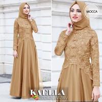 Gamis Brokat/Dress Muslimah 2021/Gamis Remaja/Gamis Brokat/Baju Muslim