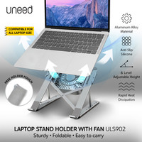 UNEED Laptop Stand Holder with Cooling Fan Aluminium Alloy - ULS902
