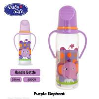JS005 Baby Safe Botol Susu Bayi 250 ML Handle - Botol Susu Bayi - Dot
