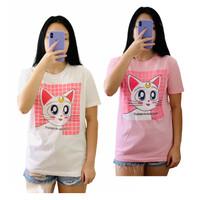 Kaos atasan ABG / dewasa perempuan allsize LD 94 x 67 Cat Luna