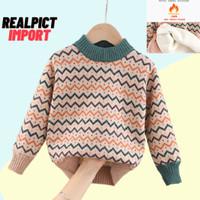 Sweater Jaket Anak Bayi (0 - 6 Tahun) Import Premium Lapisan Bulu