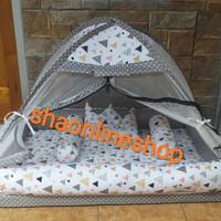 kasur bayi tenda corak segitiga