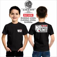 Kaos Baju Anak Motor HONDA GANG GHOST NO LIMIT SPEED Otomotif - Gilan - XS