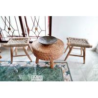 Reka Stool - stool seagrass - kursi teras - bangku - kursi rotan