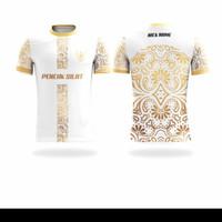 Baju Kaos Jersey Pencak Silat Karate Batik Custom Lengan Pendek