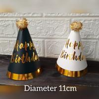 Topi pesta ulang tahun anak birthday party hat / Topi ulang tahun 11cm - Hitam