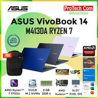 LAPTOP ASUS A412DA - RYZEN 7 3700U 8GB 512GB SSD VEGA 8 14 FHD W10