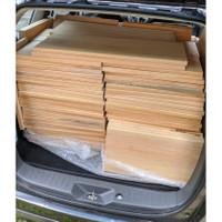 Papan baru kayu Pinus oven s4s 25cm (Bukan jati Belanda bekas peti)