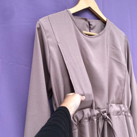 AZKA maxi dress busui | gamis busui friendly bukaan kanan kiri murah