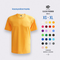 Kaos Polos Oblong Combed 20s Size L