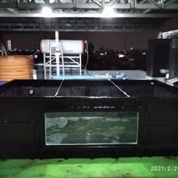 bak/kolam ikan fiberglass face kaca