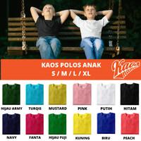 Baju Kaos Oblong Tshirt Polos Anak Adem Lembut Banyak Warna 2-8 Tahun