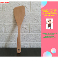 HONEY KITCHEN TURNER SPATULA SODET SUTIL KAYU MENCONG BERKUALITAS