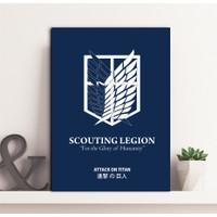 Poster Kayu Pasukan Pengintai Anime Attack On Titan scout legion
