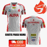 Baju Kaos Jersey Aura Esport T-Shirt Gaming Team 2021 Free Fire Mobile