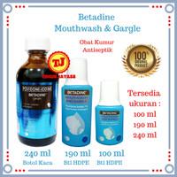 Betadine Obat Kumur / Cairan Kumur Mulut / Mouthwash And Gargle 190 ml