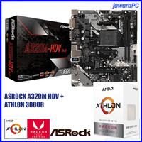 AMD Athlon 3000G Paket Mobo Asrock A320M HDV