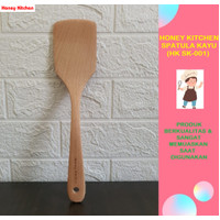 HONEY KITCHEN TURNER SPATULA SODET KAYU BERKUALITAS UKURAN 30CM