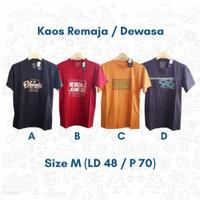 Kaos Oblong Laki-Laki Dewasa Matahari Harian T-shirt Mall Branded