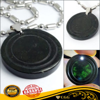 Liontin Batu Kesehatan Black Jade Natural Giok Hitam Original
