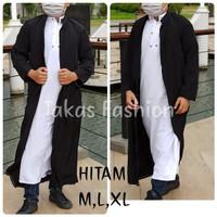 BIGSALE Jubah Luaran pria muslim / JUBAH Luaran hitam putih Al-Harby
