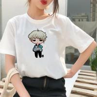 Baju Kaos Atasan Tshirt Katun Wanita Chibi Suga BT21 BTS Cewek Jumbo