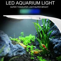 Lampu Aquarium LED Light Super Slim Clip On 10W Aquascape Terarium