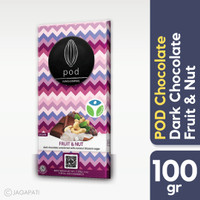 Pod Chocolate Bali - Dark - Fruit & Nut 100gr - Cokelat Non Dairy