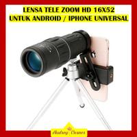 AKSESORIS LENSA KAMERA TELE ZOOM HD 16X52 ANDROID IPHONE SMARTPHONE
