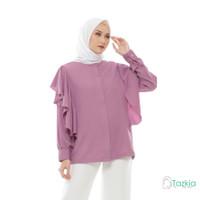 Atasan Muslim Wanita | Calista Blouse Lilac | S M L XL | Tazkia Hijab